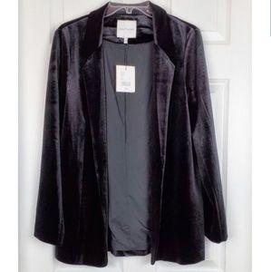 NWT Gibson Latimer velvet jacket size M oversized